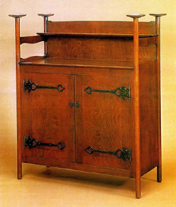 Wrought Iron Mission : Craftsman style sideboard