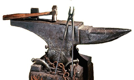 wrought iron anvil