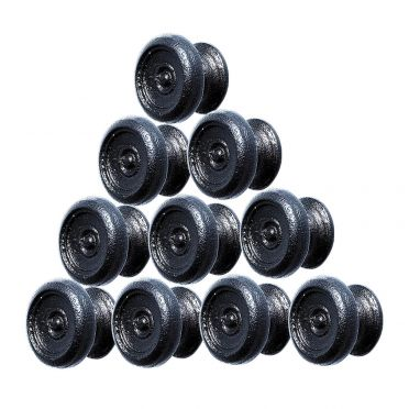 Wrought Iron Round Recessed Cabinet Knobs 1 Inch Set of 10