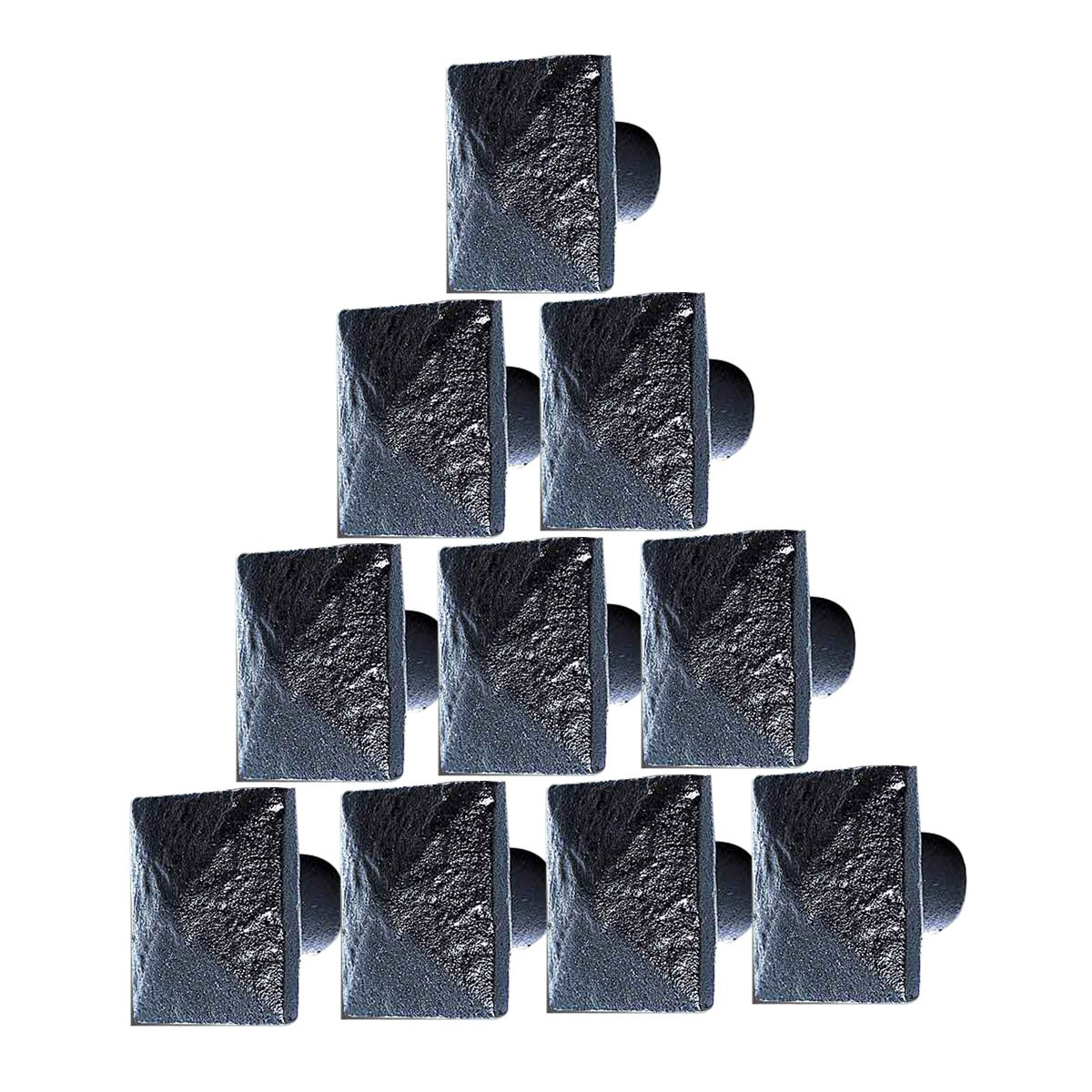 Wrought Iron Square Cabinet Knobs 1 Inch Set of 10