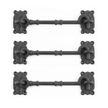 Wrought Iron Cabin Hooks 7-1/4 Inch Set of 3