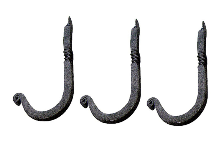 3 single hooks black wrought iron 3 12 in h x 1 14 in pro alt