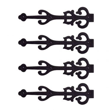 Wrought Iron Old World Dummy Strap Hinges 11 Inch Set of 4