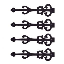 Old World Dummy Strap Hinges 11 Inch Set of 4