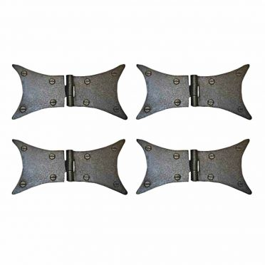 Wrought Iron Butterfly Hinges Set of 4