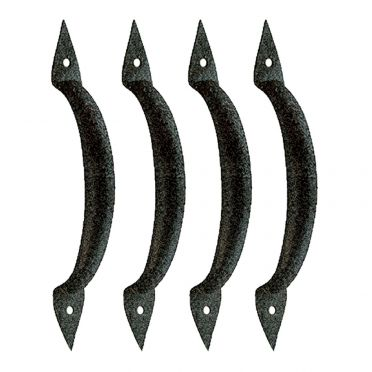 Wrought Iron Door Handle Spear 6-3/8 Inch Set of 4