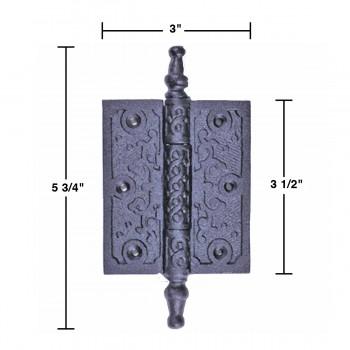 6 hinge black wrought iron iron hinge 5 34h x 3w alt