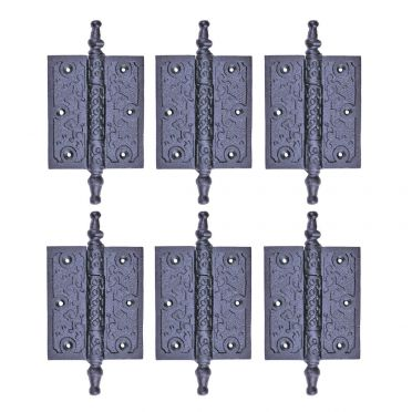 Wrought Iron Iron Cabinet Hinge 5-3/4 Inch Set of 6