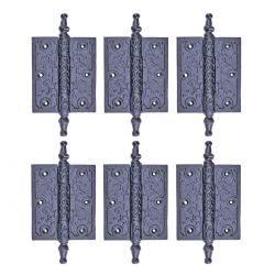 Iron Cabinet Hinge 5-3/4 Inch Set of 6