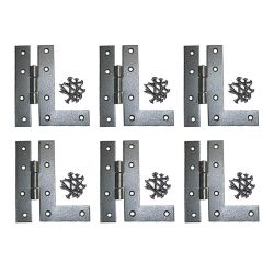 Flush Mounted HL Cabinet Hinges 4-1/2 Inch Left Set of 6