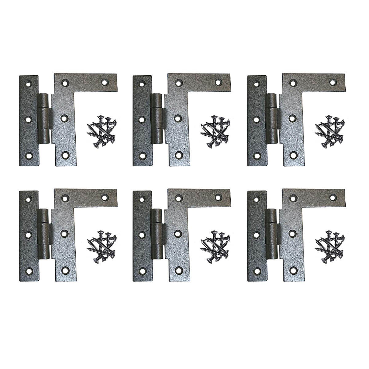 Wrought Iron H-L Cabinet Hinges 3-1/2 Inch H with 3/8 ...