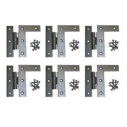 H-L Cabinet Hinges 3-1/2 Inch H with 3/8 Offset Left Set of 6