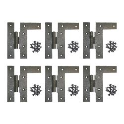 H-L Cabinet Hinges 4-1/2 Inch H with 3/8 Offset Left Set of 6
