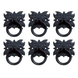 Old World Style Ring Pulls 2-3/4 Inch Set of 6