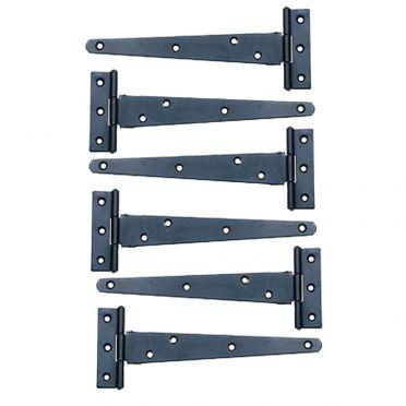 Wrought Iron Door or GateTeeHinges 5 inch Set of 6