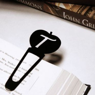 Custom Personalized Apple Bookmark