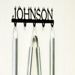 Custom Personalized BBQ Tool Rack