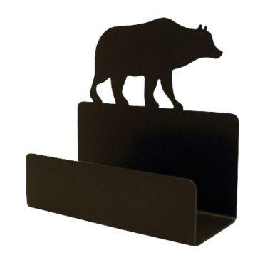 Wrought Iron Bear Business Card Holder