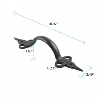 black wrought iron pull 10 12 in alt