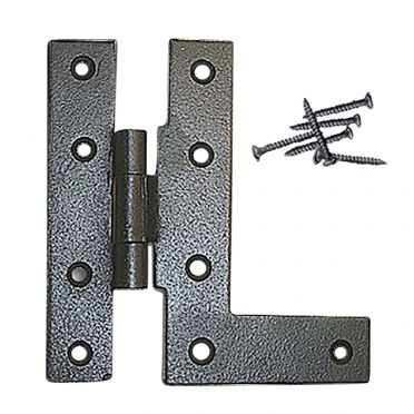 Wrought Iron Cabinet Hinge 4-1/2 inch H Left
