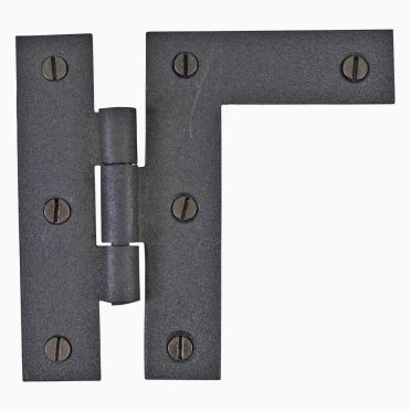 Wrought Iron Cabinet H-Hinge Right Flush Mount 3-1/2 inch H