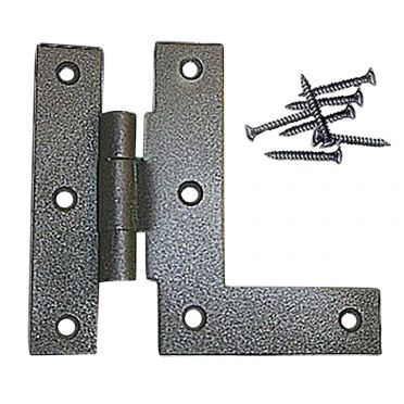 Wrought Iron Cabinet Hinge 3-1/2 inch H x 3/8 inch Offset Left