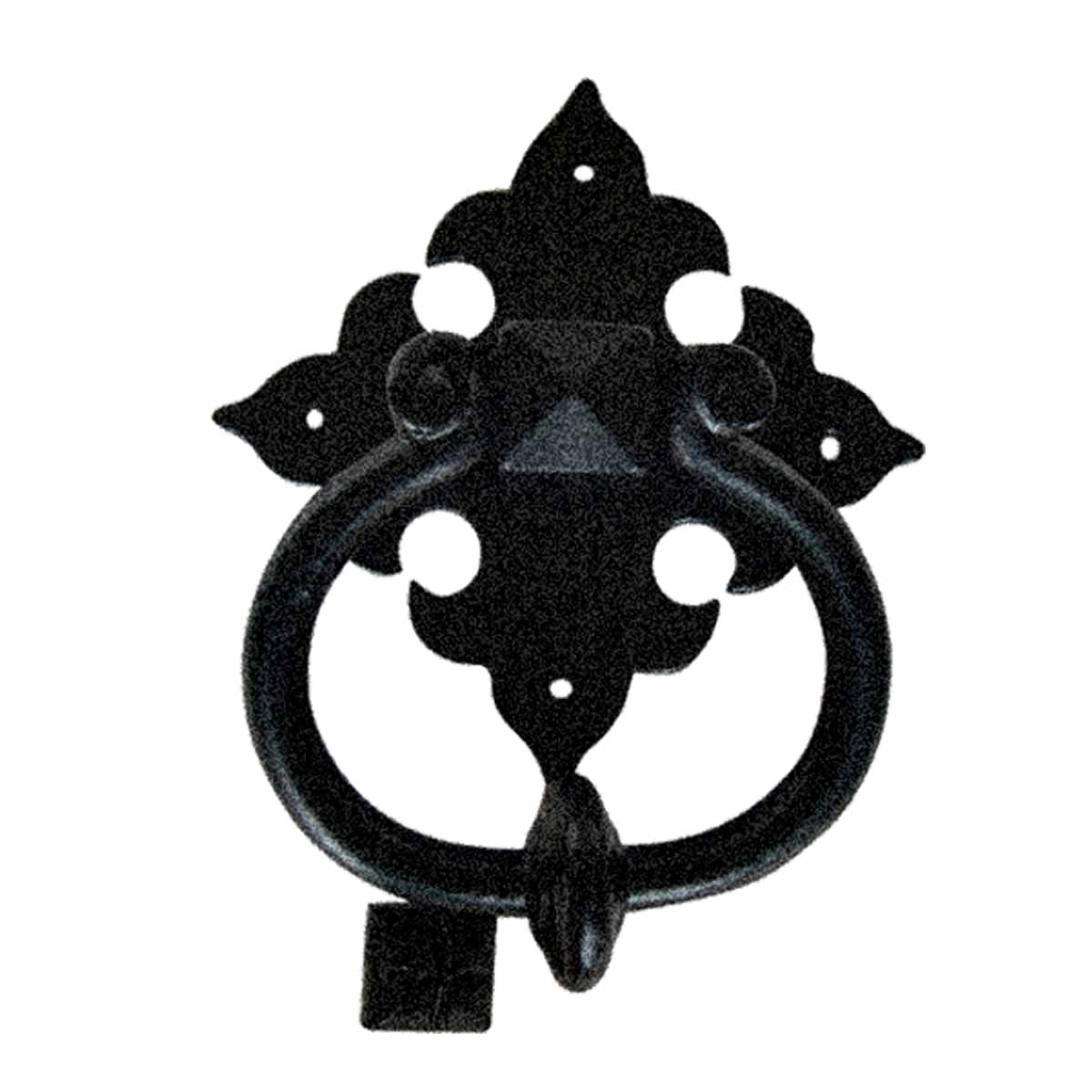 Cast Iron Door Knocker Fleur De Lis Ring