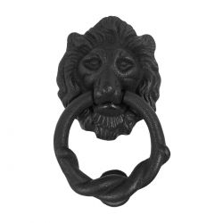 Cast Iron Lions Head Door Knocker