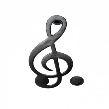 Cast Iron Door Knocker Music Symbol