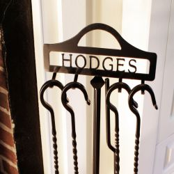 Custom Personalized Fireplace Tool Rack