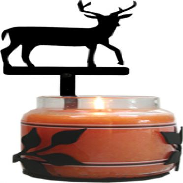 Wrought Iron 10 inch Deer - Large Jar Sconce
