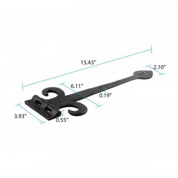 door hinges black wrought iron door hinge rsf black 15 12 w alt