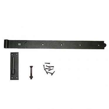 Wrought Iron Pintle Door or Gate Hinge 24-1/4 Inch Overall W
