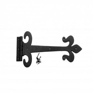Fleur-de-lis Door Strap Hinge 15 1/2 inch