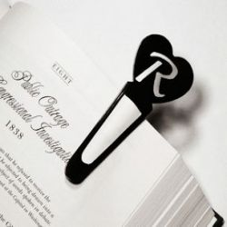 Custom Personalized Heart Bookmark