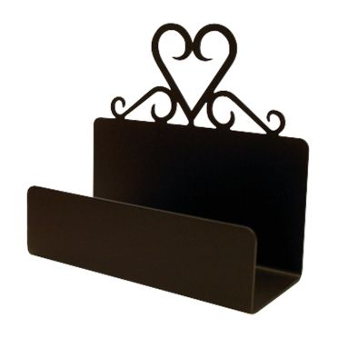 Wrought Iron Heart Business Card Holder