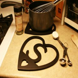 Custom Personalized Personalized Heart Trivet - Single