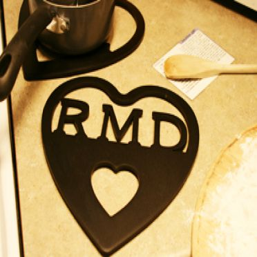 Custom Personalized Heart Trivet - Triple