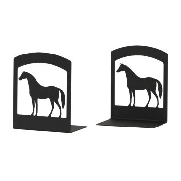 Wrought Iron Horse BookEnds