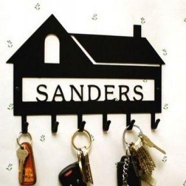 Custom Personalized House Key Hook