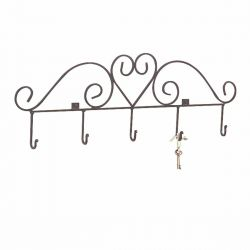 Heart Hook Key Rack 31-1/4 Inch W