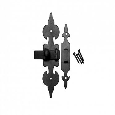 Wrought Iron Fleur de Lis Latch 6 inch