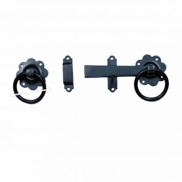 Wrought Iron Heavy Duty Floral Gate Latch 5 Inch