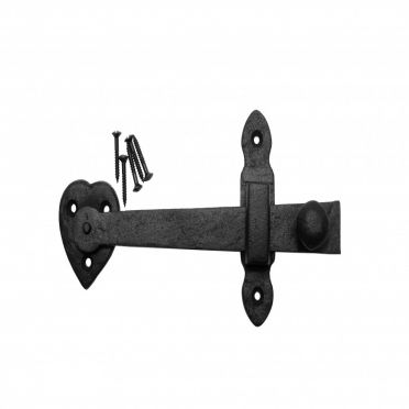 Wrought Iron Heart Door or Gate Latch 7-1/2 Inch W