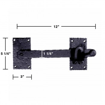 latch black wrought iron wrought iron gate lift latch 12 in