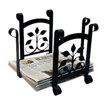 Wrought Iron Leaf Fan - Newspaper Recycle Bin | 11 inch