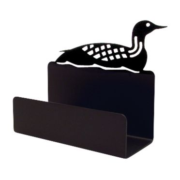 Wrought Iron Loon - Business Card Holder | 4.5 inch