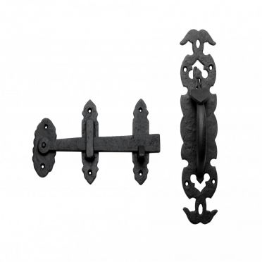 Wrought Iron Door Thumb Latch 10-1/4 Inch Set of 10