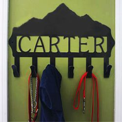 Custom Personalized Mountain Coat Hook