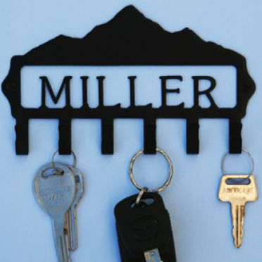 Custom Personalized Mountain Key Hook